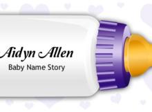 Baby Name Aidyn Allen